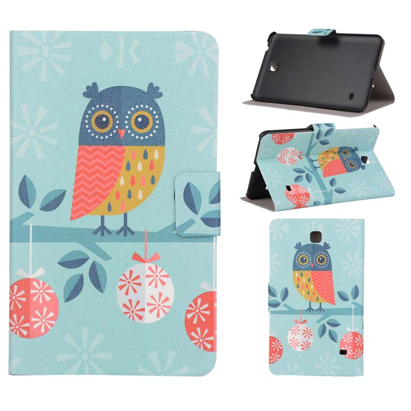 High Quality Print Stand PU Leather Sleeve Cover Protective Case For Samsung Galaxy Tab 4 7.0 T230 T231 T235 Tablet luxury flip stand case for samsung galaxy tab 3 10 1 p5200 p5210 p5220 tablet 10 1 inch pu leather protective cover for tab3