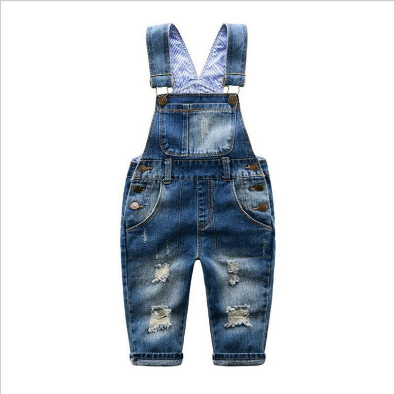 Baby Pants Boys Girls 2016 New Arrival Trouser Jeans Denim Jumpsuit Overoles Kids Autumn Winter Hole Jeans Jumpsuits Clothes ...
