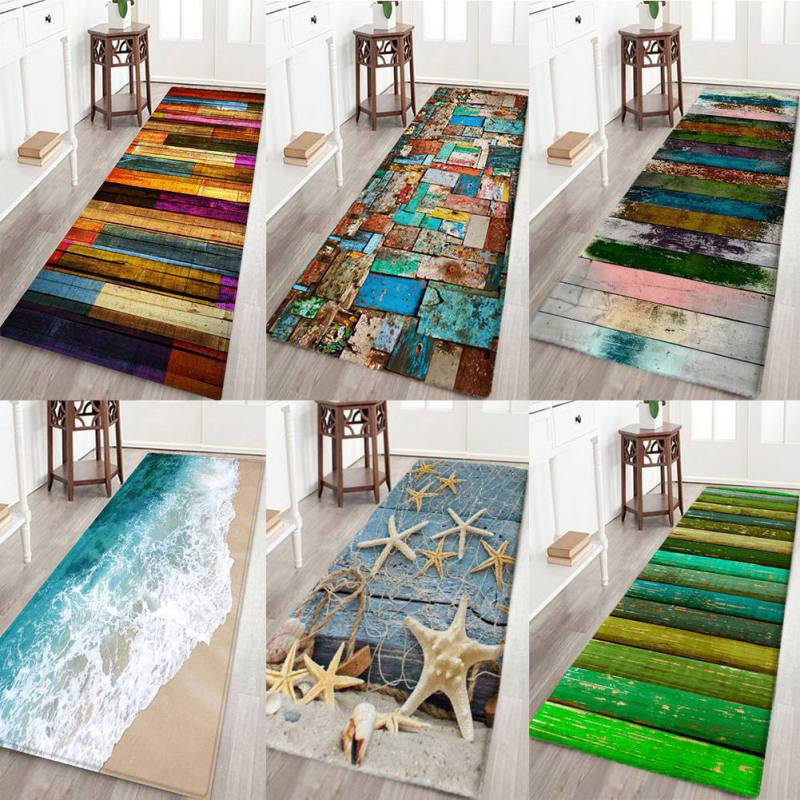 Nordic Carpets Soft Flannel 3D Printed Area Rugs Starfish Wave Floor Mat Rugs Anti-slip Large Rug Carpet For Living Room Decor