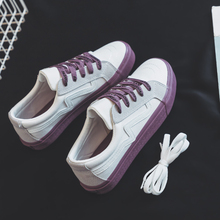 Women Casual Shoes Mixed Colors Lace Up
