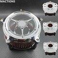 Воздухоочиститель Впускной фильтр подходит для хромированных мотоциклов Запчасти CNC ремесла для Harley Sportster Road King gliding Softtail Dyna