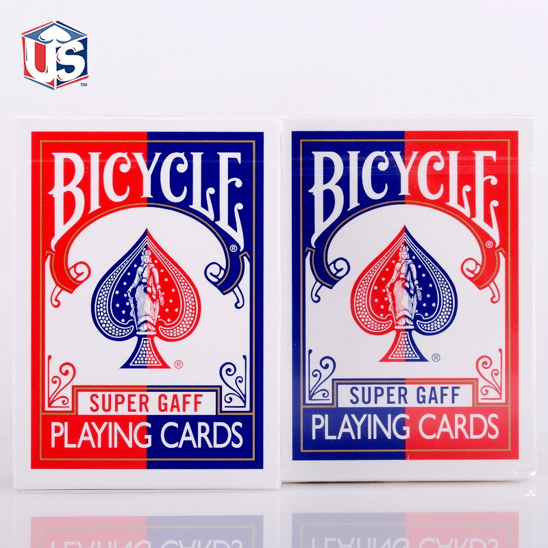 1 DECKS Bicycle Super Gaff V2 blue or red 15 Edition Playing Cards Magic Tricks