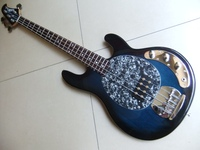 Wholesale Cnbald Musicman Ernie Ball 5 String Ray 5 String Electric Bass Guitar In Blue Burst