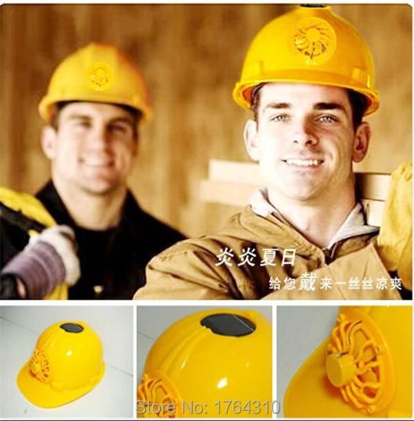 2015 Certificated Solar Safety Fan Helmet Hard Sun Hat Summer Cooling Fan  Cap wind spinner For Construction Site   motorcycler 29cebcf32a8