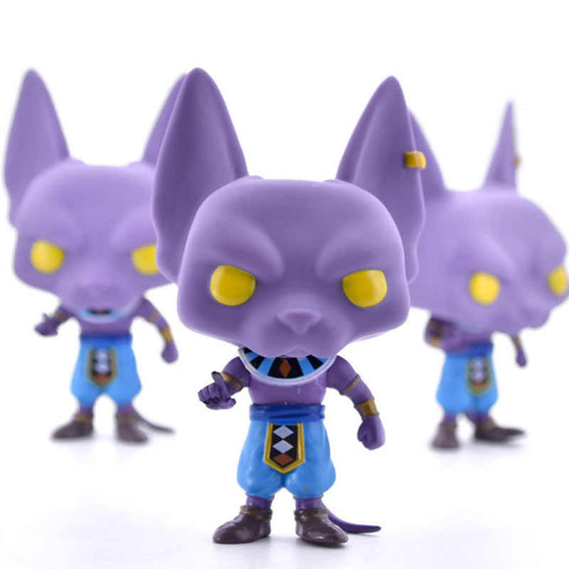 Dragon Ball Z super saiya BEERUS Funko POP PVC Action Figure Collectible Modelo brinquedos para chlidren Presente de aniversário