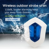 Wireless outdoor Strobe Siren For Home Security Alarm System
