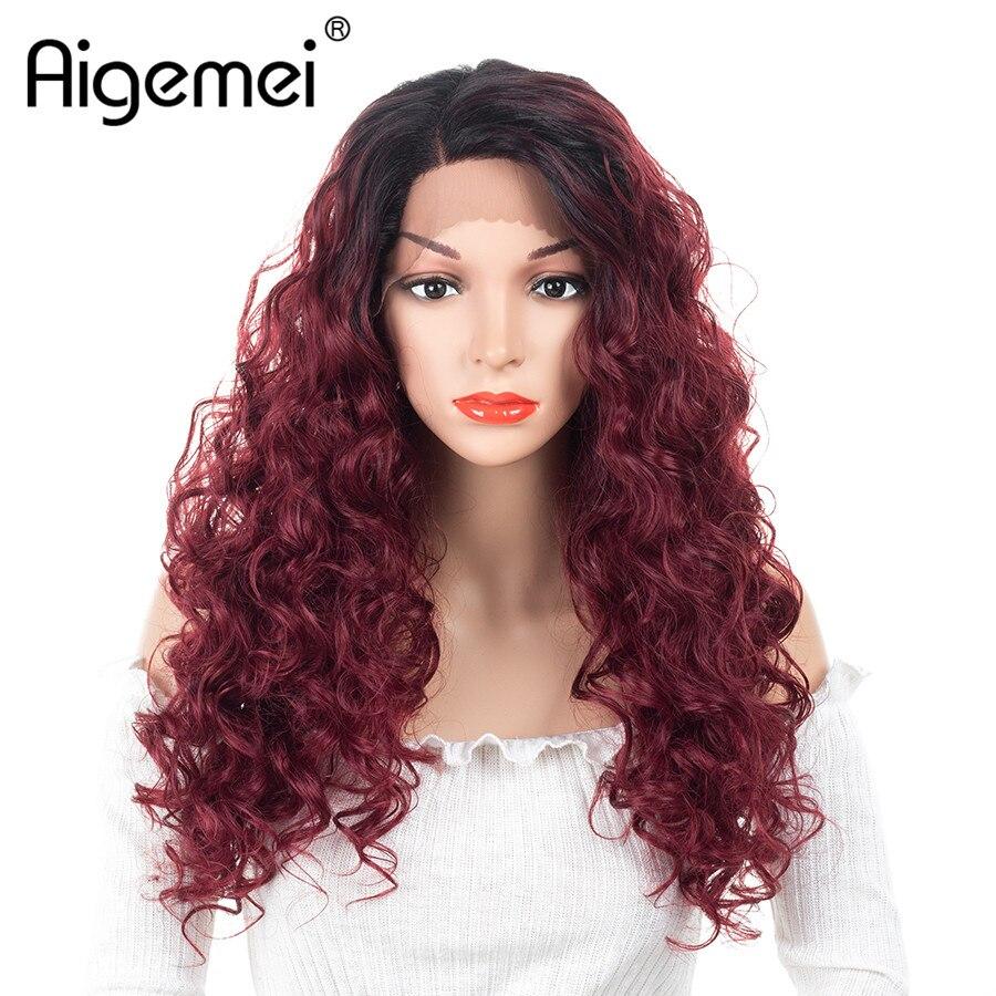 Aigemei долго странный фигурные парики термостойкие синтетические Синтетические волосы на кружеве парик для женщин девушек 20 дюймов высокая Т