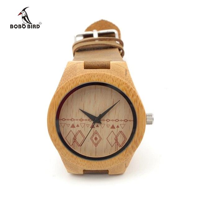 Bobo Vogel Holz Frauen Uhren Damen Quarz Bambus Uhr Frauen