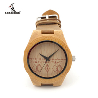 Hot Sale Brand Wood Watch With Genuine Leader Band Luxury Watches Wooden Wristwatch Japan Quartz Movement
