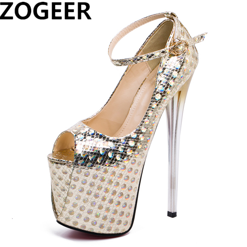 Plus Size 47 Sexy Shoes Woman Peep Toe 19cm Extreme High Heels Stiletto Women Pumps Wedding