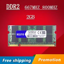MLLSE 2gb 4gb ddr2 667Mhz pc2-5300 sodimm laptop, ddr2 ram 2gb 667 dimm notebook, memory ram ddr2 2gb 800mhz pc2-6400 sdram(China)