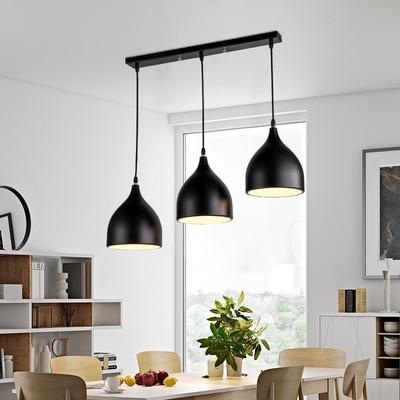 Us 25 94 21 Off Modern Ceiling Lamp Metal Led Pendant Lights For Home Restaurant Dining Room Kitchen Island Lighting Fixtures Decoration In