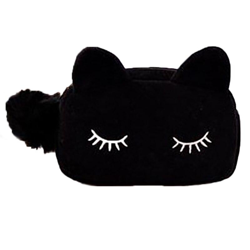 Aktiv Make-up Taschen Bietet Samt Katze Design Kosmetik Bilden Veranstalter Frauen Tasche Kosmetik Trousse De Maquillage Sac