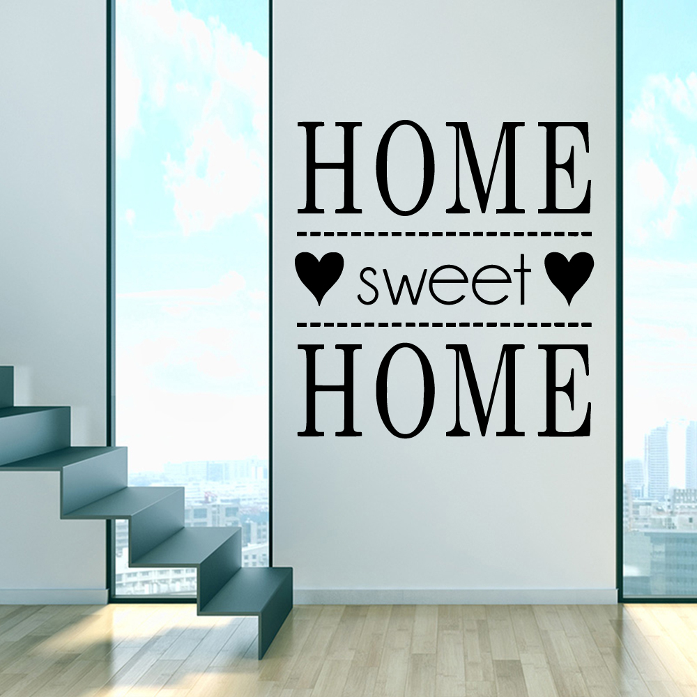 Sweet Home Wallpapers Vinyl Wall Decals Family Quotes Sayings Stickers PVC Removable Decor Room Poster