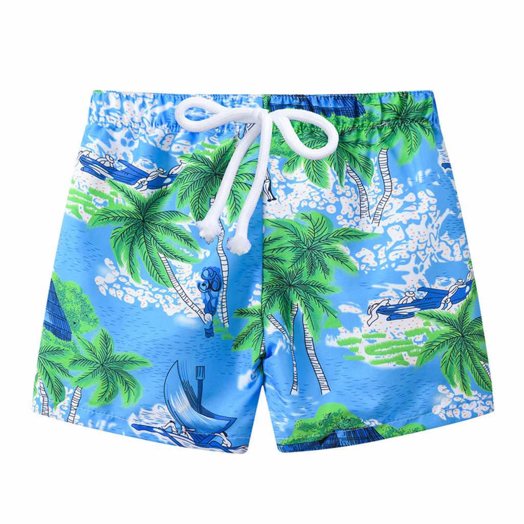 الصيف الشاطئ سروايل السباحة القصيرة للبنين سروال سباحة الكرتون ديناصور طباعة ملابس السباحة Swimtrunk Ealstic بحر плавки для мальчика