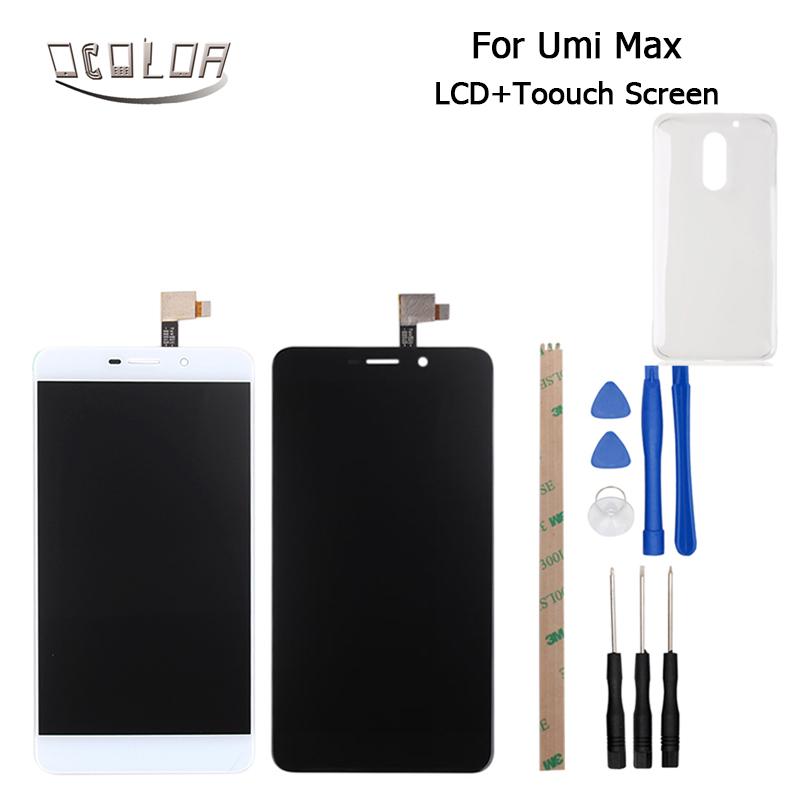 Prix pour Umi Max LCD Affichage et Écran Tactile D'origine Écran s'appliquent à F-550028X2N-C Version Outils Et Adhésif Pour UMI Max + Boîtier en plastique