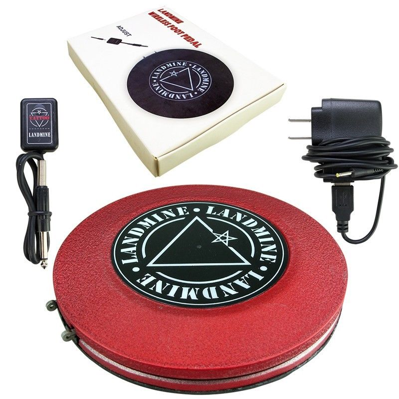 Red Plastic Tattoo Foot Pedal Switch Wireless Control Momentary Button Foot Pedal for Tattoo Machine Power Supply professional round red color 1 8 meters stainless steel tattoo foot pedal switch equipment supply tattoo clipcord dz 04r