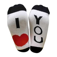 Halloween Sock Drop ship Middle Tube Socks Women Men Mid Calf Casual Style Letter Pattern Cotton Blend Hosiery