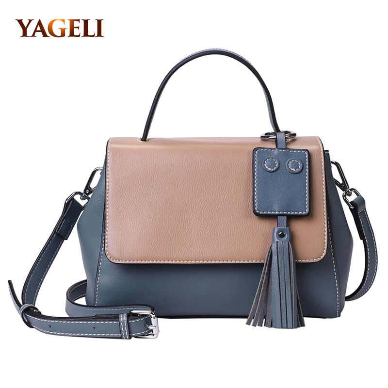 036097575d Genuine leather shoulder bags for women leather handbags 2018 luxury handbags  women bags designer fashion female