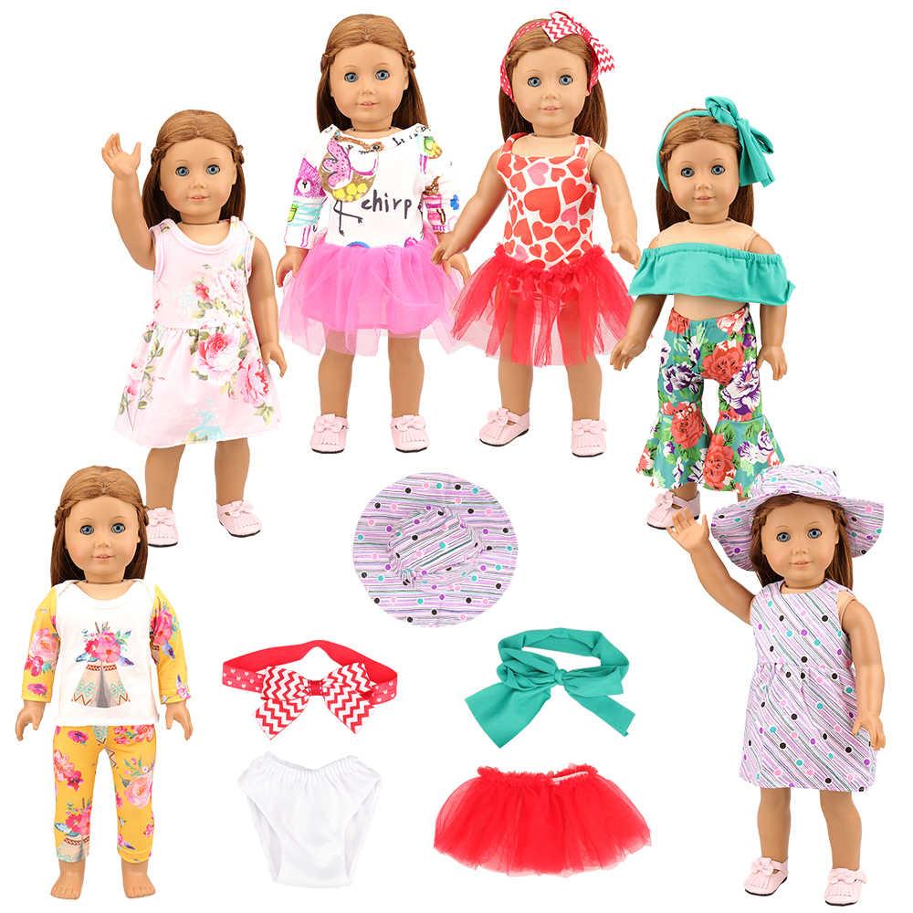 מכירה לוהטת זול בעבודת יד 6 פריטים/סט אביזרי 32 cm שלנו דור בובת בגדי שמלת עבור 18 אינץ אמריקאי ילדה בובת הלבשה