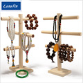 Wood necklace Display Holder For Store Wood Jewelry Display Stand Showcase necklace Display shelf Storage  three style can chose