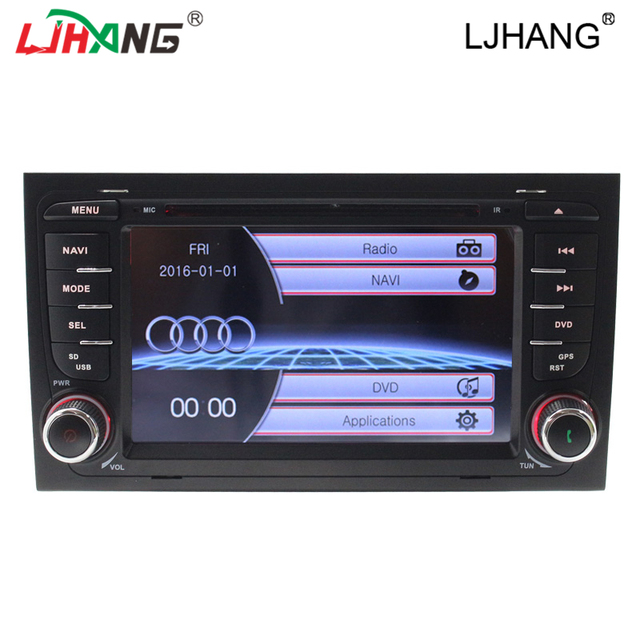 Special Car DVD Player for Audi A4 car gps multimedia system car navigation with bluetooth RDS BT USB car steer wheel control