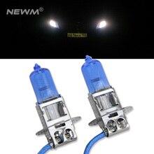 2 шт. стиль 6000 К белый 55 Вт H3 галогенные лампы Замена лампы для автомобиля противотуманные фары, Габаритные огни, DRL лампы