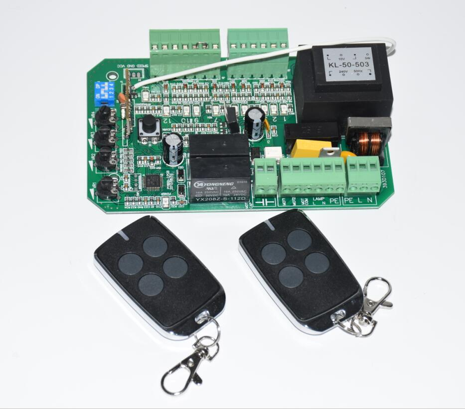 AC110v 220V 2 Keyfob Circuit Board Control Card Mother Board For Sliding Gate Opener Motor(PY600ac SL600 SL1500 PY800 Model)