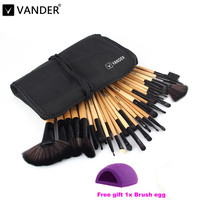Vander Professional 32 Pcs Makeup Brushes Bag Set Foundation Pinceaux Maquillage Cosmetics Brush Tools Cleaning Egg
