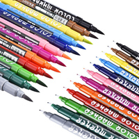 Bianyo 12 Color Double Head Artist Soluble Colors Copic Sketch Marker Brush Pen Set For School