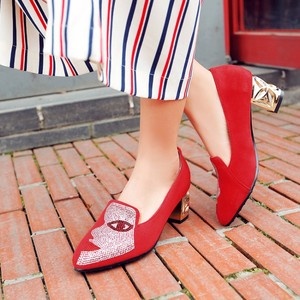 Image 4 - New fashion Big size 33 48 high spike heel pumps with buckle made of high quality pu women pointed toe  shoes 602