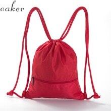 Caker brand Drawstring Backpack Men Women Waterproof Lightweight Travel backpack Black blue red Bag forTeenager Boy