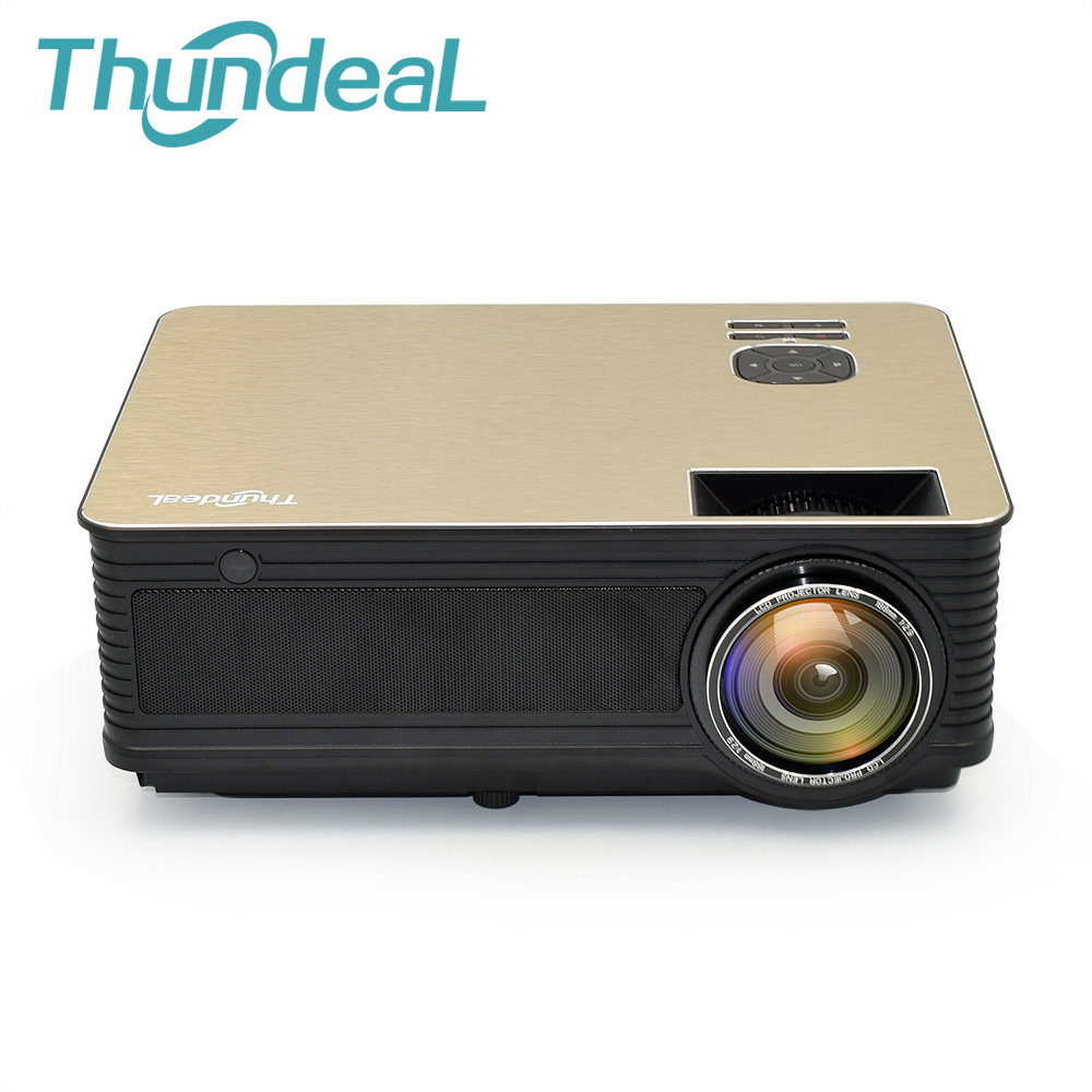 ThundeaL M5 HD Projector 4000 Lumens Android 6.0 WiFi Bluetooth LED Projector TD86 Support 1080P TV HDMI VGA 3D Full Projector-in LCD Projectors from Consumer Electronics