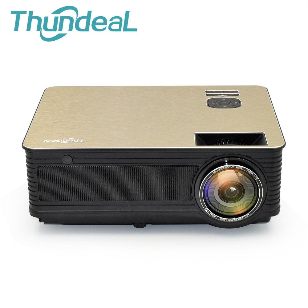 ThundeaL M5 HD Projecteur 4000 Lumens Android 6.0 WiFi Bluetooth LED Projecteur (En Option) soutien 1080 p TV HDMI VGA 3D Projecteur
