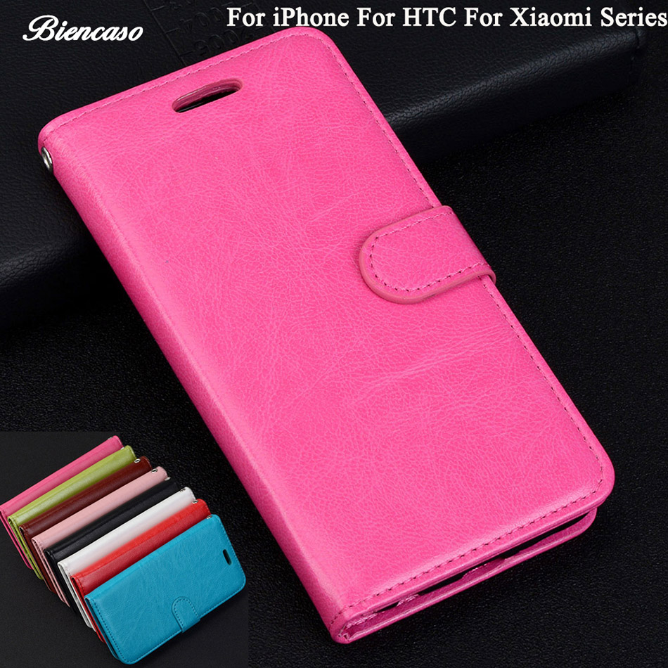 Case For iPhone 7 6s 5s SE Plus Leather Wallet Flip Card Holder Cover For HTC Desire 626 One M8 M8t M9+ M9 Plus M9pw A9 1+2 B82