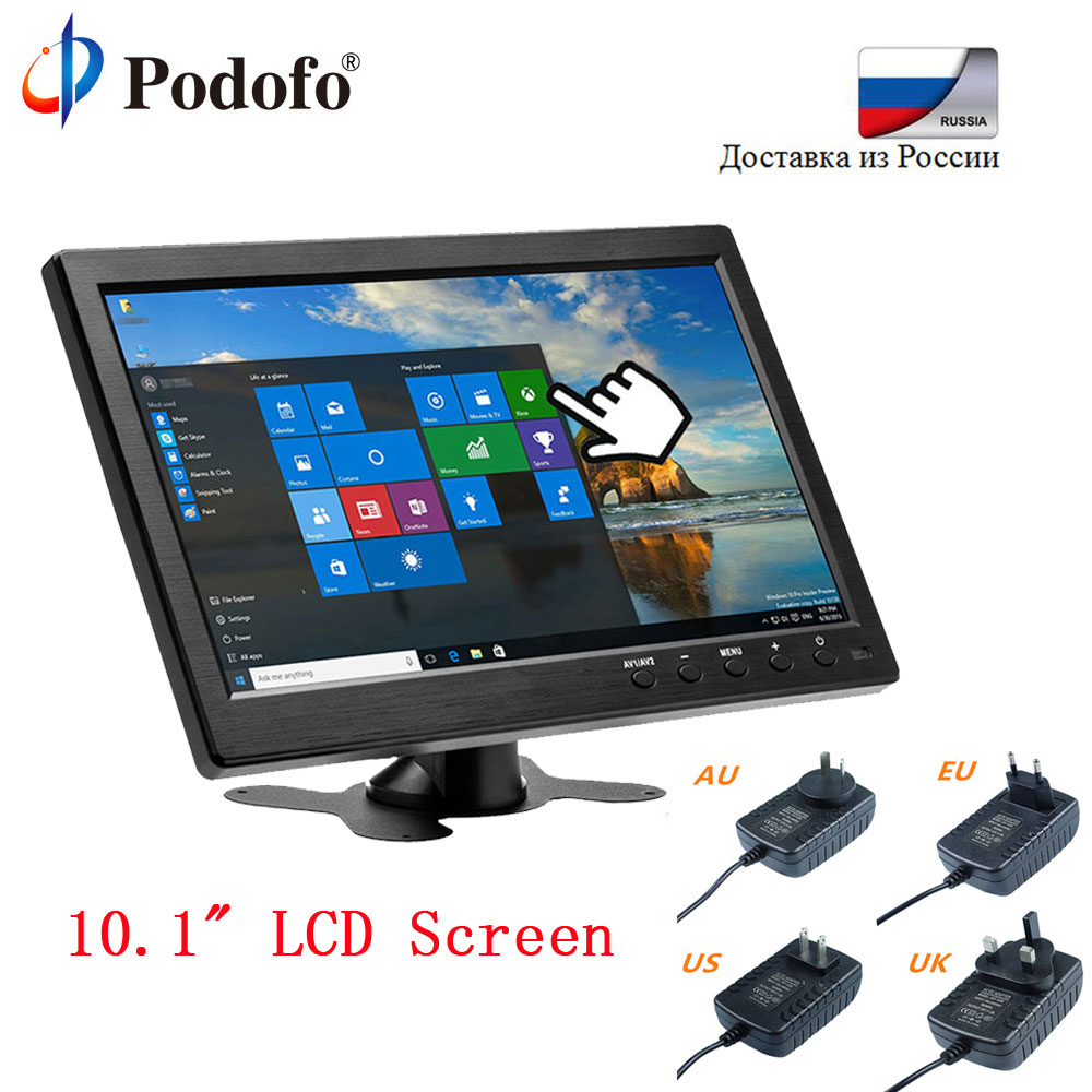 Podofo 10.1 Car Headrest Monitor HD Digital TFT LCD Screen DVD Player Slim Design UV Coating HDMI VGA AV USB SD Port car pillow zipper cover 2x 9 hd touch screen car headrest dvd player with 32 bit game usb sd ir fm transmitter no ir headphones