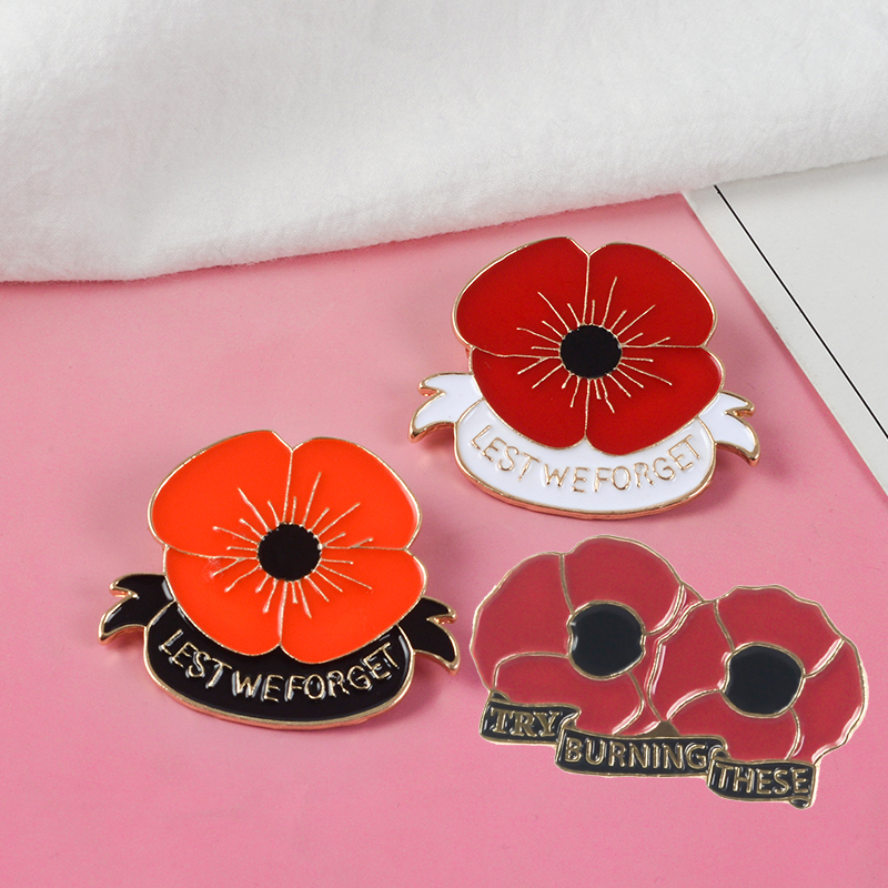 England Remembrance Day Anzac Day Less We Forget Red Poppy Flowers