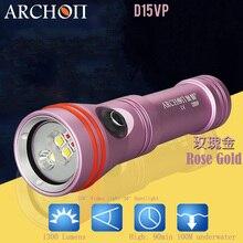 2018 Новый ARCHON D15VP Дайвинг прожектор для видеосъемки прожекторная светильник CREE светодиодный Макс 1300 люмен 110 / 30 градусов 100 м Подводные погружения вспышки света светильник