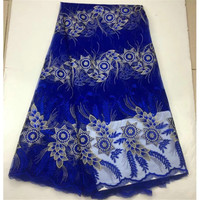 2018 classical star flowers design Nigerian wedding material FC13,Free Shipping and wholesale price African Tulle lace fabric