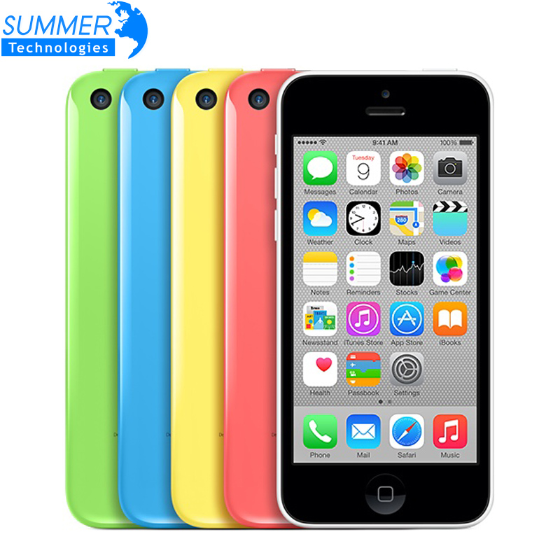 Original Unlocked Apple iPhone 5C Cell Phones 16GB 32GB Dual Core WCDMA WiFi GPS 8MP Camera 4.0″ Mobile Phone