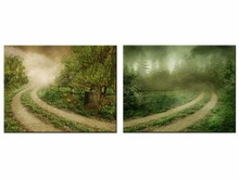 Top Wall Deocr Canvas Painting 2 Pcs Classic rural landscape Modern Printed Oil Pictures Living Room Frame or No Frame/JO13-017