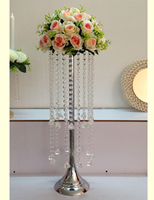 New arrival 68 CM height Acrylic Crystal Wedding Table Centerpiece , flower road leads 1 lot = 10 pcs