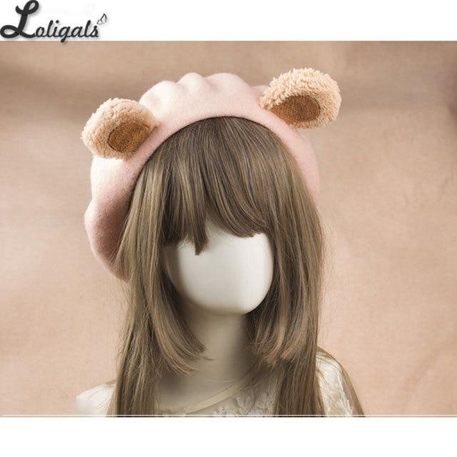 Lolita Bear Ear Berets Cute...