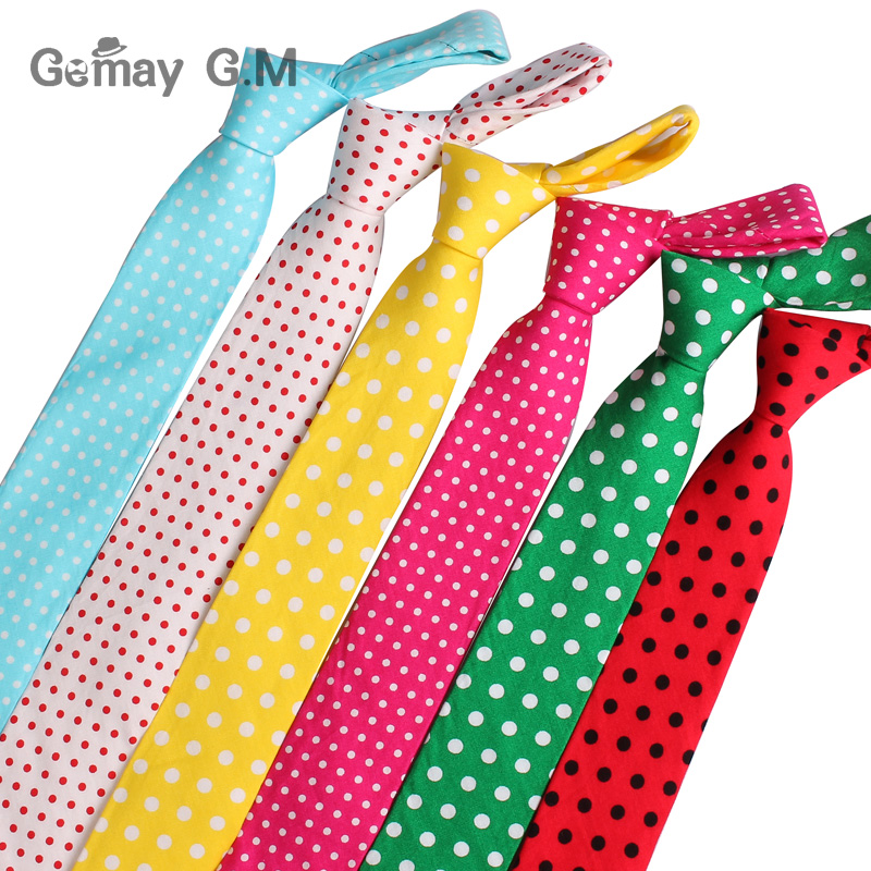 New Dots Print Neck Ties for Men Fashion Casual Cotton Tie Gravatas Business Skinny Mens Neckties Corbatas Dot Men Ties