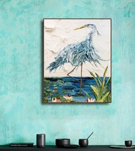 цены на Abstract Birds Modern Prints Canvas Painting Calligraphy Wall Art Posters Prints Green Art Wall Pictures Living Room Poster  в интернет-магазинах