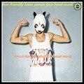 Hot selling 100% Natural Latex Cro Panda Mask Newly Style Party Fancy Dress Novelty Halloween Animal Party panda face head Mask