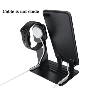Image 3 - Desk phone holder,For Apple Watch stand 3 in 1 phone holder charge dock station,Table base For iPhoneX/8/7/6/ipad mobile support