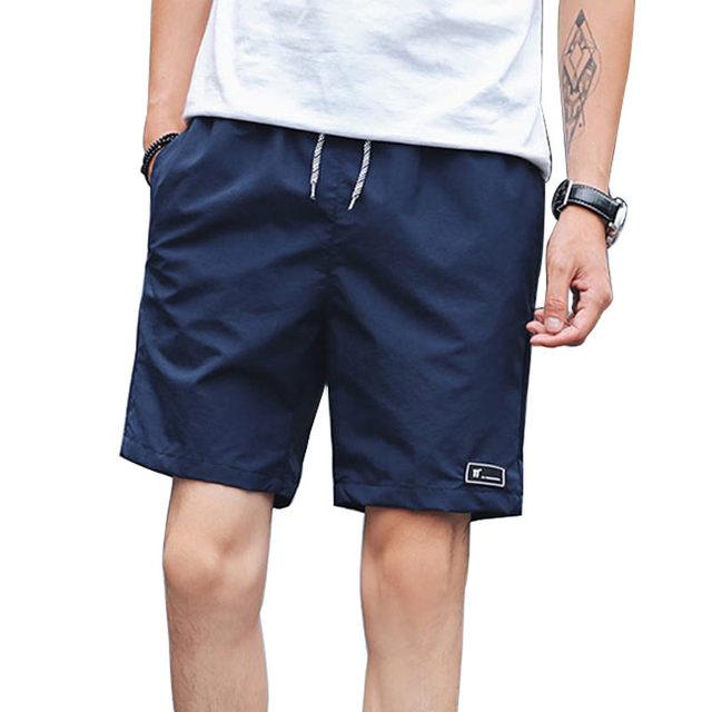 a7901343fb57 2018 New Fashion Summer Shorts Men Breathable Casual Shorts Mens Bermuda Knee  Length Elastic Waist Beach Shorts Male Big Size 88