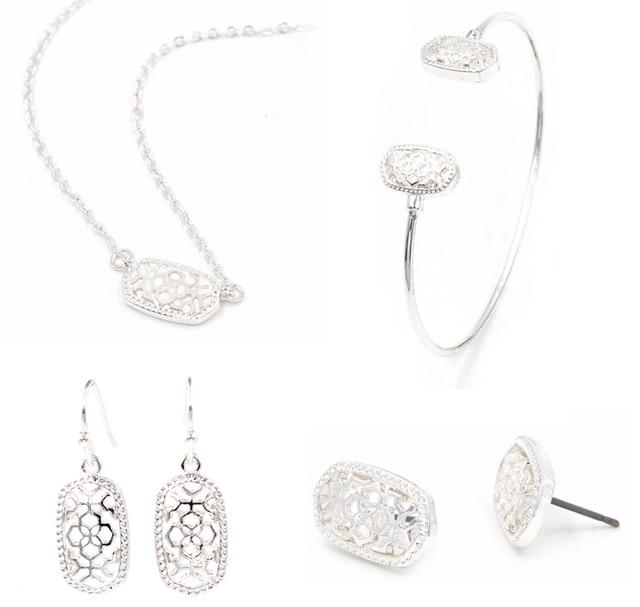 Geometric Oval Jewellery set 2