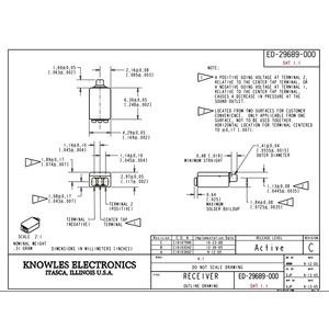 Image 3 - Ricevitore per altoparlanti con Driver di armatura bilanciato, 2 pezzi, serie ED per apparecchi acustici e IEM fai da te